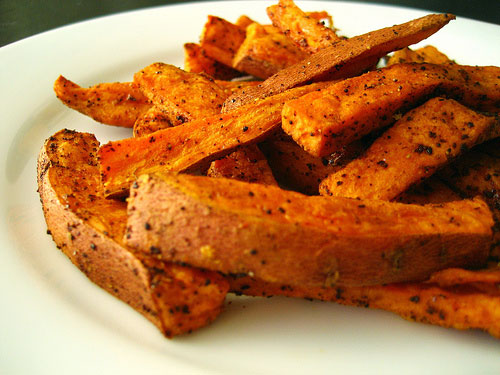 Savory Sweet Potatoes recipe - 120 calories